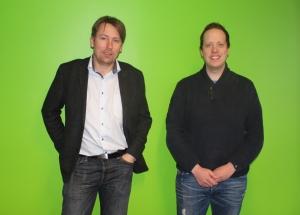 Purity styrker sitt support-team: Daglig leder Lars Olav Habberstad (t.v.) ønsker Kim-André Haug velkommen til oss